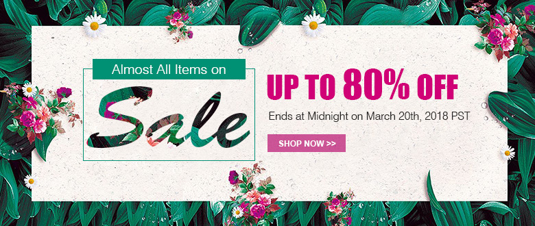 Almost All Items on Sale! Up To 80% OFF