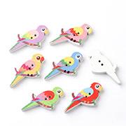 Parrot Wooden Buttons
