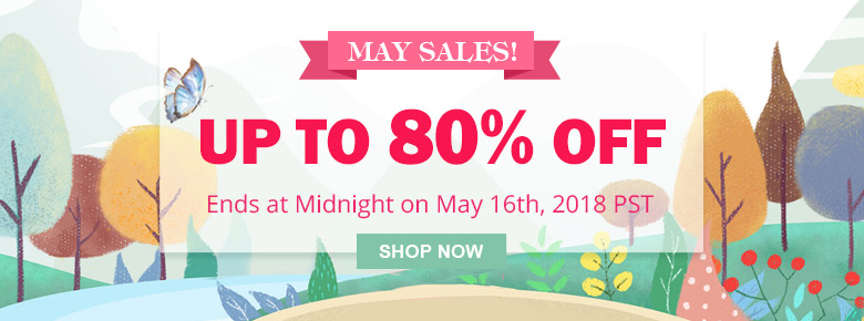 May Sales! Up To 80% OFF