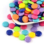 Solid Colour Acrylic Beads
