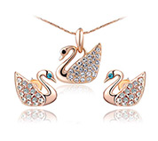 Swan Necklaces and Earrings