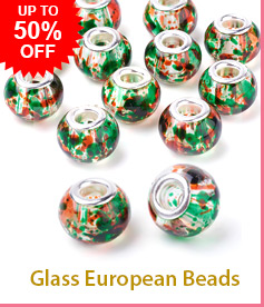 Glass European Beads Up To50% OFF