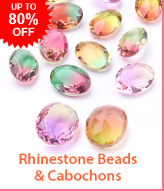 Rhinestone Beads & Cabochons Up to 80% OFF