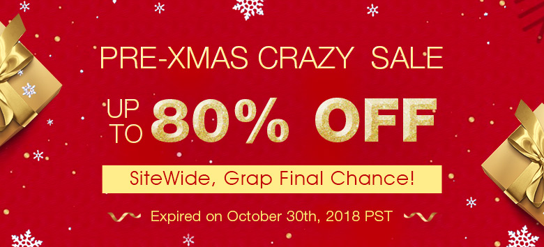 Pre-Xmas Crazy  Sale Up to 80% OFF