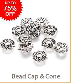 Bead Cap & Cone Up to 75% OFF