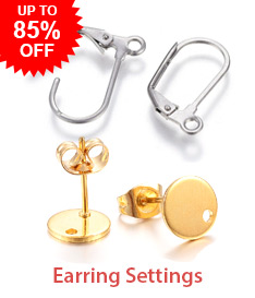 Earring Settings Up to 85% OFF