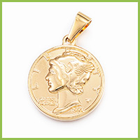 304 Stainless Steel Coin Pendants