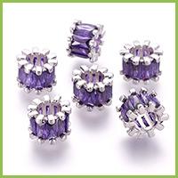 Brass Cubic Zirconia Beads