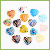 Heart Handmade Millefiori Glass Beads