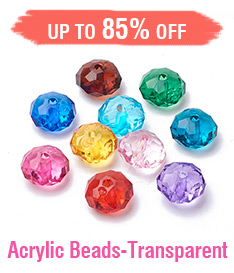 Acrylic Beads-Transparent Up to 85% OFF