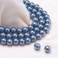 Environmental Dyed Glass Pearl Round Beads