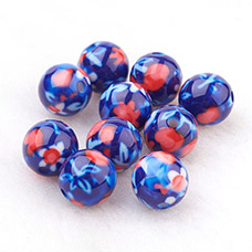 Resin Beads with Pattern