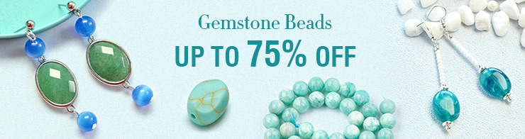 Gemstone Beads Up to 75% OFF