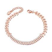 Alloy Bracelet with AAA Cubic Zirconia