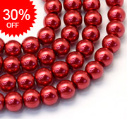 Baking Painted Glass Pearl Beads
