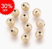 Brass Stardust Beads