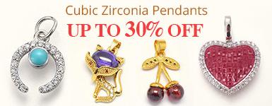 Cubic Zirconia Pendants Up to 30% OFF