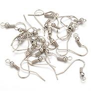 Platinum Color Iron Earring Hooks