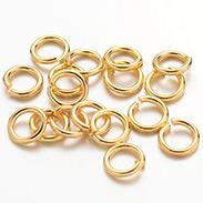 Golden Color Brass Jump Rings