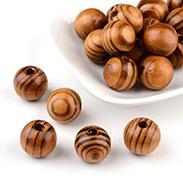 Round Wood Beads,