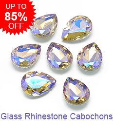 Glass Rhinestone Cabochons Up to 85% OFF