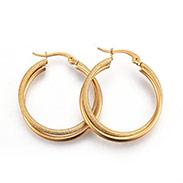 304 Stainless Steel Hoop Earrings