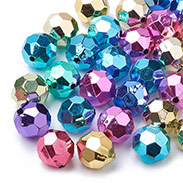 Color Plated Acrylic Beads