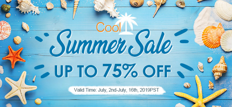 Cool Summer Sale Up to 75% OFF