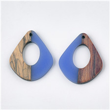 Quadrangle, Resin & Wood Pendants