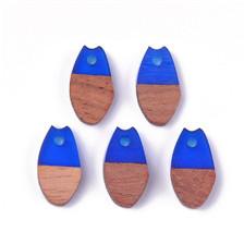 Drop Resin & Wood Pendants