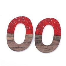 Oval Resin & Wood Pendants
