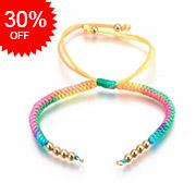 Nylon Cord Braided Bead Bracelets Makings