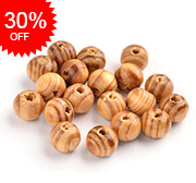 Undyed Wood Beads