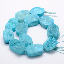 Natural & Dyed Druzy Agate Beads Strands