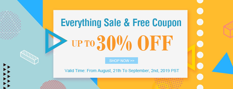 Everything Sale & Free Coupon Up To 30% OFF
