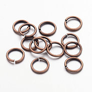 Red Copper Color Brass Jump Rings