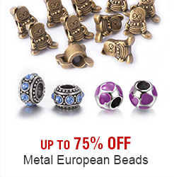 Metal European Beads Up to 75% OFF