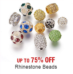 Rhinestone Beads Up to 75% OFF