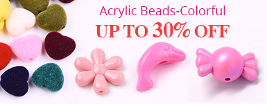 Acrylic Beads-Colorful Up to 30% OFF