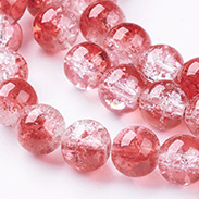 Crackle Glass Beads Strands