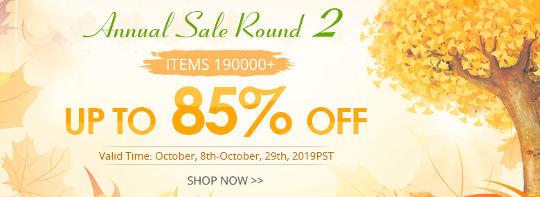 Annual Sale Round 2 Up to 85% OFF