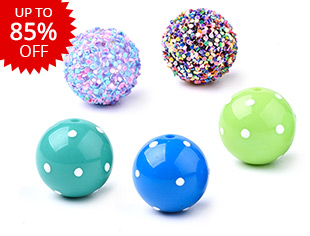 Acrylic Beads-Colorful Up to 85% OFF