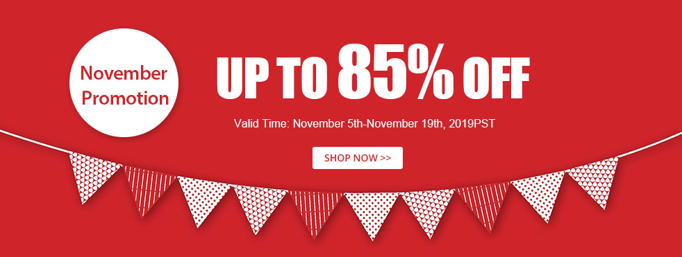 November Promotion Up to 85% OFF
