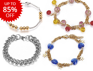Stainless Steel Bracelets Up to 85% OFF