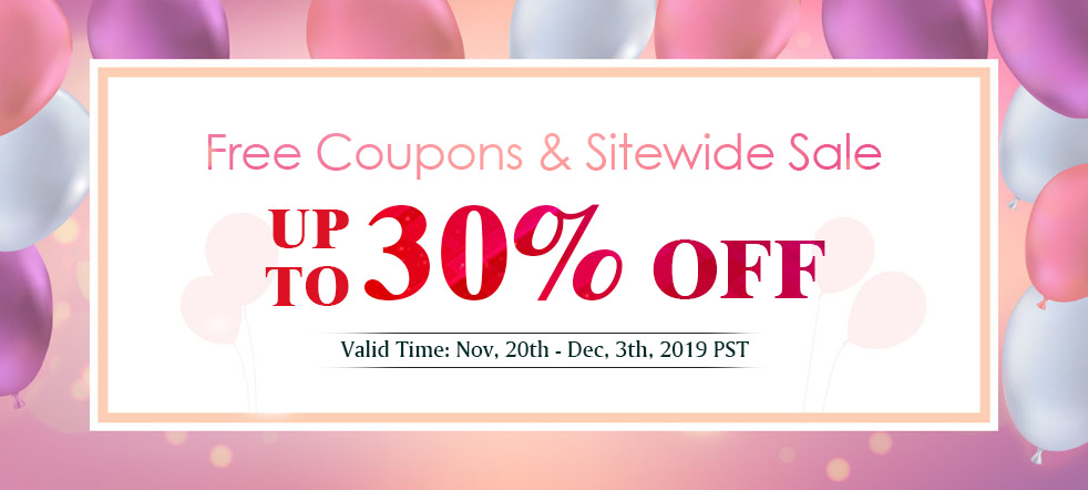 Free Coupons &Sitewide Sale Up To 30% OFF