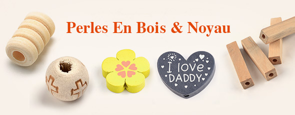 Perles En Bois & Noyau