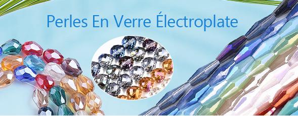 Perles En Verre Électroplate