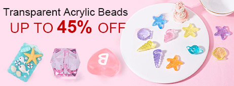 Transparent Acrylic Beads  Up To 45% OFF