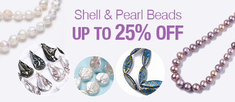 Shell & Pearl Beads Up To 25% OFF