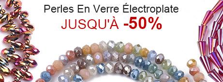 Perles En Verre Électroplate Jusqu'à -50%